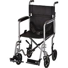 "NOVA Medical Products 19"" Steel Transport Wheelchair, Hammertone"