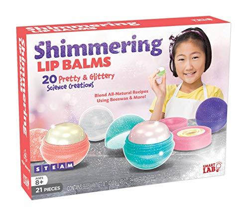SmartLab Toys Shimmering Lip Balm - 21 Pieces - 20 Recipes - 5 Lip Balm Pods, 11 1/4