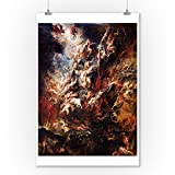 The Fall of the Damned - Masterpiece Classic - Artist: Peter Paul Rubens c. 1620 (9x12 Collectible Art Print, Wall Decor Travel Poster)