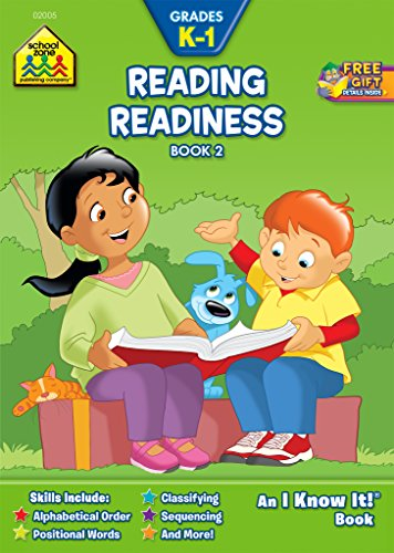 School Zone - Reading Readiness Book 2 Workbook, Grades K to 1, Ages 5 to 7, ABC Order, Positional Words, Number Words, Rhyming, and More (School Zone I Know It!® Workbook Series)