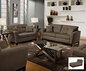 Amazon Com Simmons Luna Sofa Loveseat Chair Ottoman