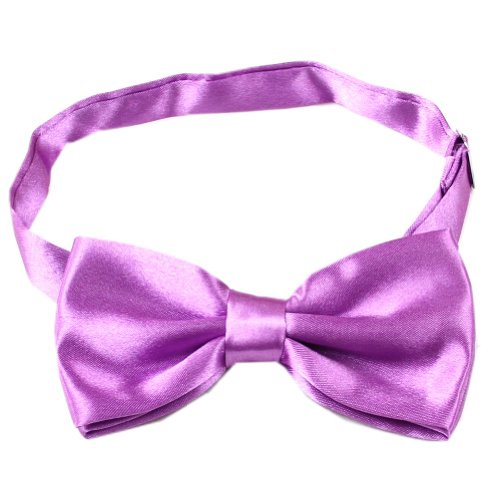 Enwis Tuxedo Mens Bowtie Adjustable Wedd ing Party Solid Light Purple