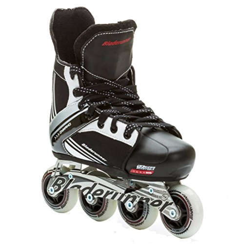 (Bladerunner by Rollerblade Dynamo Jr Size Adjustable Hockey Inline Skate, Black and Red, Inline)