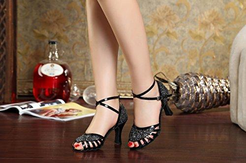 Heel 8cm mujer Black salón Miyoopark wzqIY1ngf