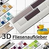 Grandora W5288 Mosaico Adesivo per piastrle effetto 3D grande scelta Adesivo da muro Cucina Bagno Decorazione piastrelle Pellicola autoadesivo - come selezionato, Design 5
