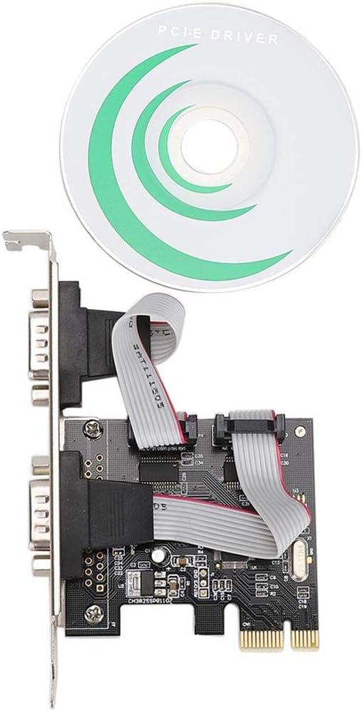 PCI-E PCI Express zu serielle DB9 RS232 2-Port Controller Adapterkarte,2X serielle COM-Schnittstellen,Unterst/ützt DOS,Windows 8//7//Vista//XP//2000//Linux Richer-R PCI-E Dual RS-232 Serial Schnittstelle