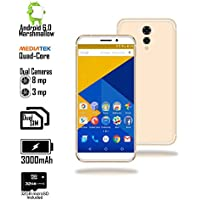 Indigi 4G LTE Android Marshmallow Smartphone - Quad Core CPU - Dual Sim - 32GB Micro SD Included - 5.6 - White/Gold