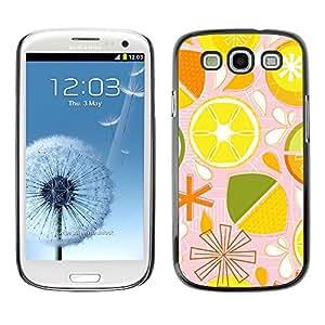[Neutron-Star] Snap-on Series Teléfono Carcasa Funda Case Caso para Samsung Galaxy S3 [Patrón lima limón Citrus estilizado]