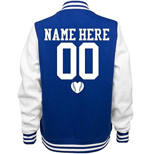 Customized Girl Cute Baseball Girlfriend Name: Ladies Fleece Letterman Varsity Jacket for $<!--$53.97-->