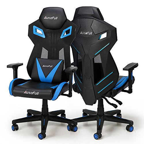 AutoFull Gaming Chair - Ergonomic Mesh High-Back Racing Chair Computer Game Office Chair with Lumbar Support (1 Pack)