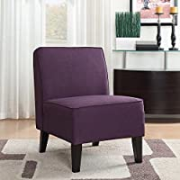 Roxbury Fabric Slipper Chair, Polyester Fabric, Easy Transitional Styling in Purple