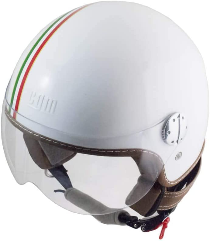 kurzer Bildschirm L wei/ß ITALIA Jethelm CGM -FSA-14
