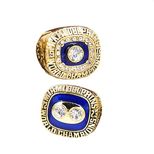 Gloral HIF Fans Miami Dolphins 1972 1973 Championship Rings Set Football Championship Rings Size 11 Without - 1972 Dolphins