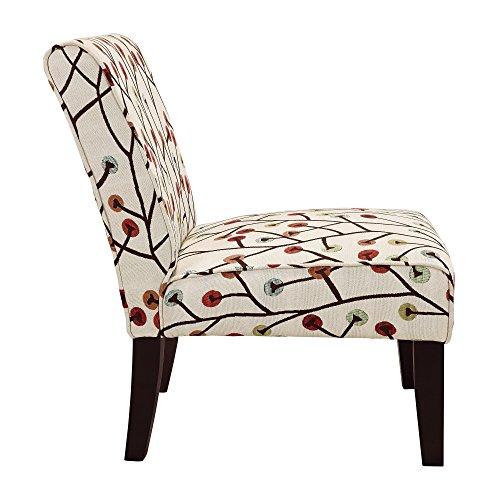 Dorel Living Teagan Armless Accent Chair New