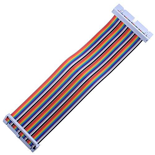 kuman Breadboard Jumper Wire 40pin Raspberry Pi TFT Screen Ribbon GPIO Cable
