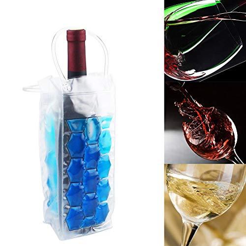 - S WIDEN ELECTRIC WineBottleFreezerBag,Rapid Ice Wine Cooler PVC Beer Cooler Bag Outdoors Ice Gel Bag Picnic Freezer Sacks Bag Chilling Frozen Bag