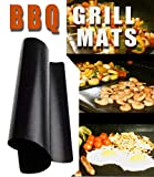 Chef Caron Non Stick BBQ Grill mats - Set of 2 - for Gas, Charcoal, Pellet Grills - Magic mat as seen on tv - Large Professional Cooking mat - Keep Your Barbecue Grate Clean