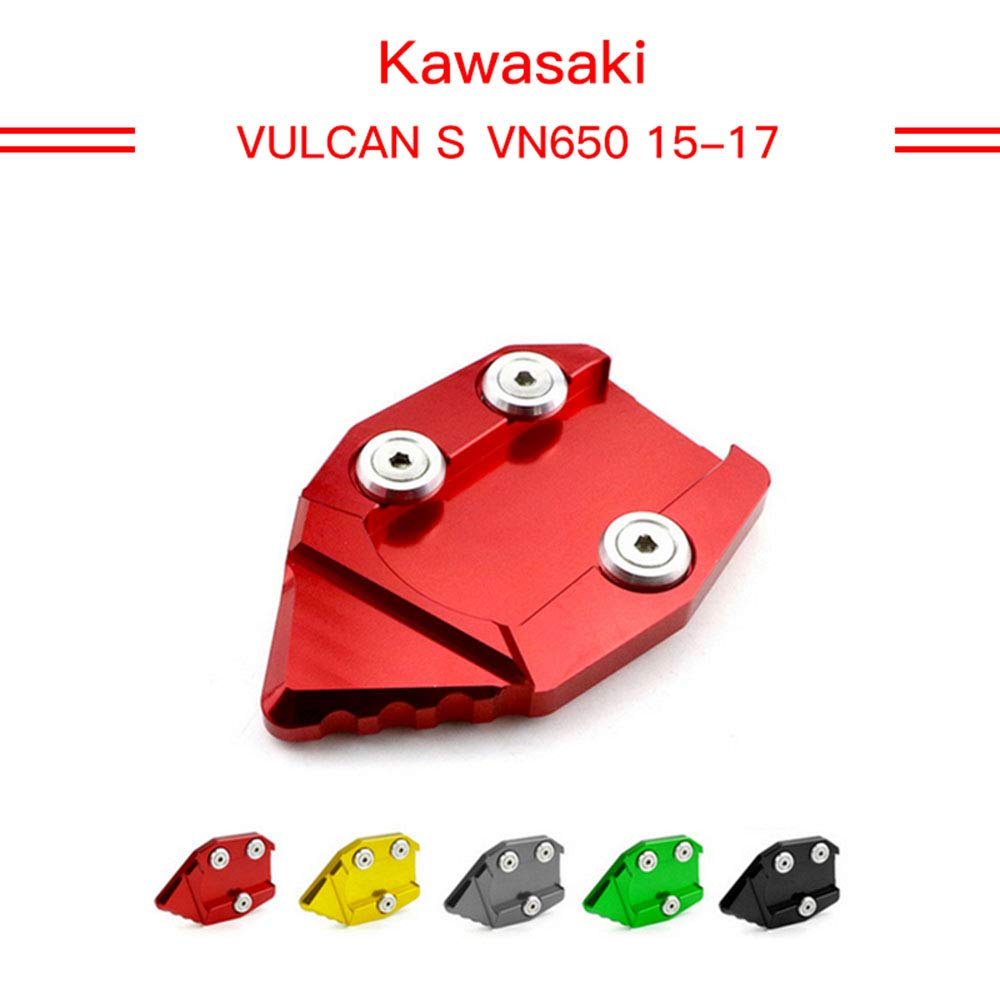 Kickstand Foot Side Stand Extension Pad Support Plate For KAWASAKI VN650 Vulcan S 650 EN650 2015 2016 2017(GREEN) LILING