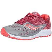 JackRabbit Women's Saucony Ride 10 Running Shoe (Grey/Berry)
