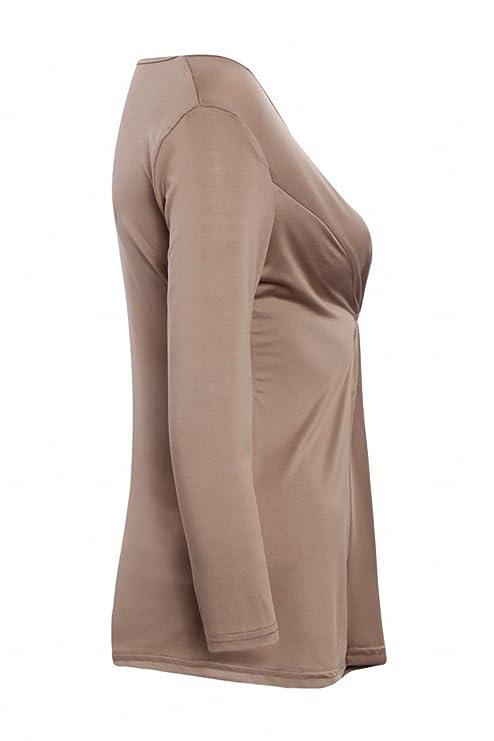etcyy de la mujer de manga larga blusa Casual o cuello camiseta Tops: Amazon.es: Ropa y accesorios