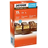 Detour Lower Sugar Whey Protein Bar, Caramel Peanut Bars, Peanut Butter Cream Bars, Chocolate Chip Caramel, 1.5 Ounce Each- Variety 3 Pack (60 Count Total )