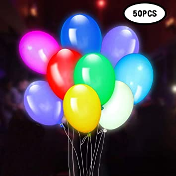 Air GIGALUMI 30 Pack LED Light Up Balloons Ideal for Parties Fillable with Helium Birthdays and Wedding Decorations Premium Mixed-Colors Flashing Party Lights Lasts 12-24 Hours