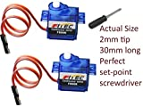 2 Pack FS90R 20.86oz Continuous Rotation Micro Servo Arduino with set-point driver