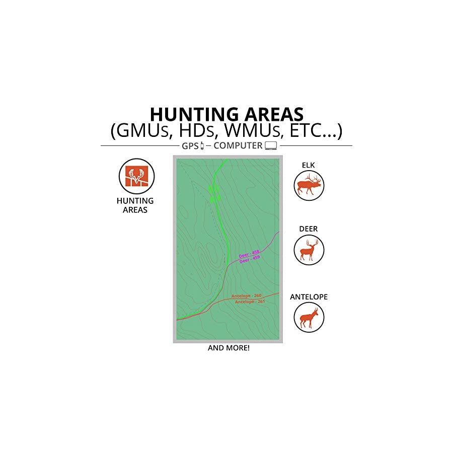 California Hunting Maps: onX Hunt Chip for Garmin GPS Public & Private Land Ownership Hunting Units & Zones Includes Premium Membership for onX Hunting App for iPhone, Android & Web