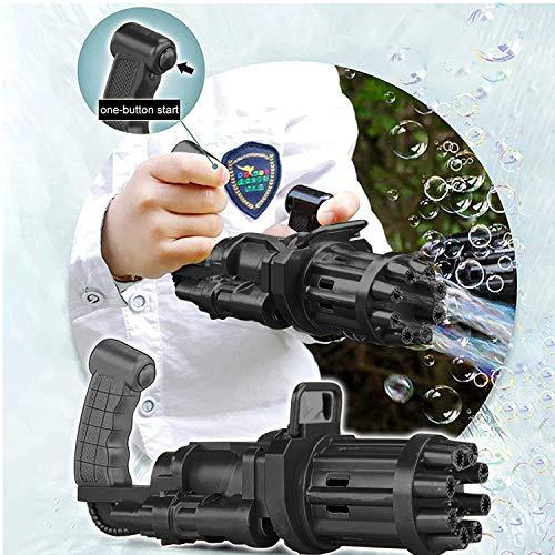 Gatling Bubble Machine 2021 Gatling Bubble Gun 8-Hole Bubble Gun Bubble  Machine Automatic Bubble Blower Electric Bubble Maker Machine Toy for  Toddler Kids Boys Girls (Black,2 Packs) | Pricepulse