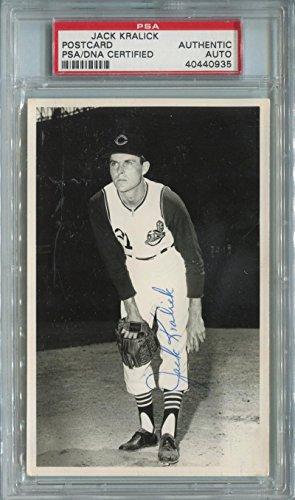 Jack Kralick Signed Photograph Postcard. PSA