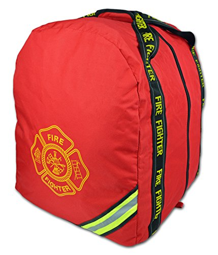 Lightning X Deluxe Fireman Firefighter Boot-Style Turnout Step In Bunker Gear Bag - RED