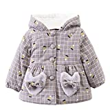 Kids Cute Autumn Winter Hooded Cloak Coat FimKaul Fashion Thick Warm Clothes (24M, Khaki)