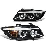 bmw 328i headlight switch - BMW E90 3-Series Pair of 3D Crystal Halo Projector Black Housing Amber LED Corner Headlights