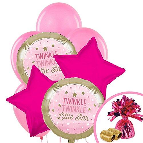 Twinkle Twinkle Little Star Pink Party Supplies - Balloon Bouquet