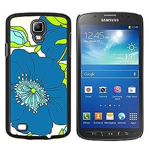 Stuss Case / Funda Carcasa protectora - Modelo azul del verde del dibujo del arte - Samsung Galaxy S4 Active i9295