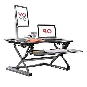 Yo Yo Desk 90 Black Best Selling Height Adjustable Standing Desk