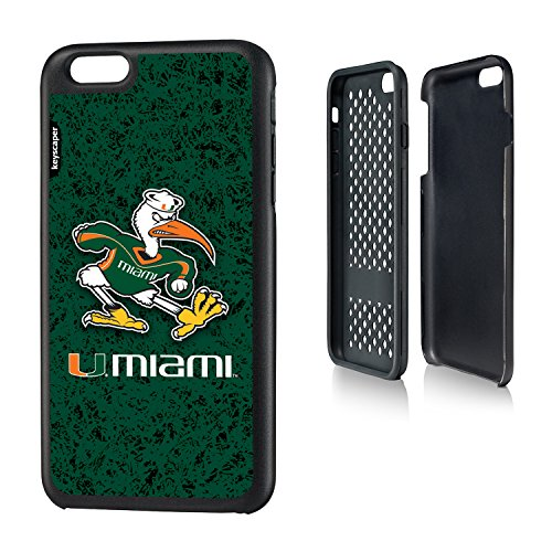 Miami Hurricanes iPhone 6 Plus & iPhone 6s Plus Rugged Case officially licensed by the University of Miami for the Apple iPhone 6 Plus by keyscaper® Durable Two Layer Protection Shock Absorbing