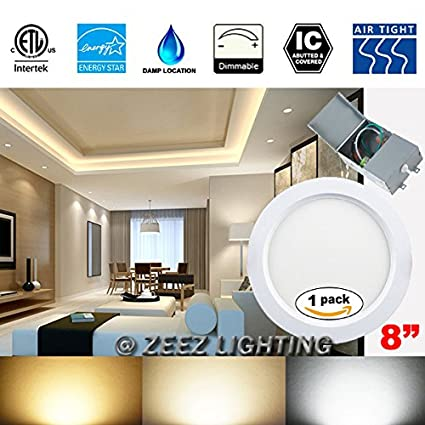 "ZEEZ Lighting 18W OD 9"" ID 8"" Cool White LED Recessed Panel"