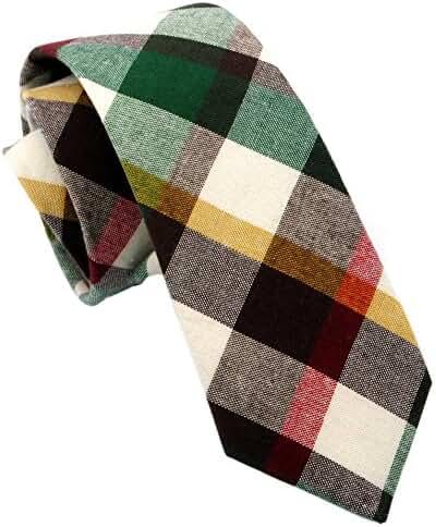 Zenxus Casual Skinny Necktie Slim Cotton Ties 2(1/2)
