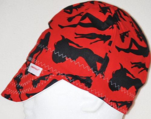 Comeaux Caps Welders Welding Hat Red Silhoutte 8