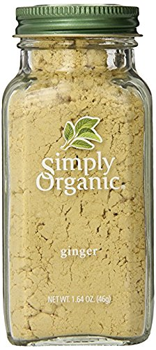 Simply Organic Ginger Root Ground Certified Organic, 1.64-Ounce Containers  (Pack of 3)
