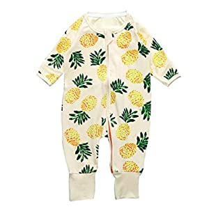 Baby Rompers, LOVELYIVA Newborn Baby Boys Girls Long Sleeve Floral Print Zipper Romper Jumpsuit Bodysuit Outfits Clothes
