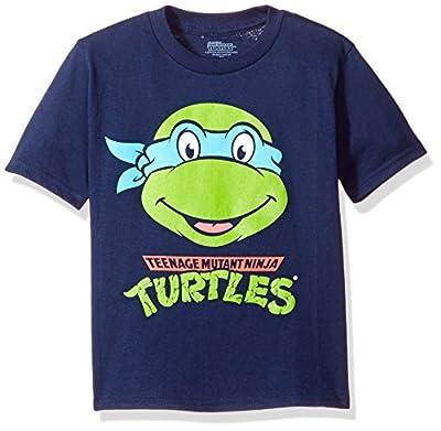 Nickelodeon Little Boys' Toddler Teenage Mutant Ninja Turtles Short Sleeve T-Shirt, Navy, 5T