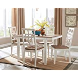 Great Ashley Furniture Signature Design   Brovada Rectangular 5 Piece Dining Room  Set   Includes Table U0026 4 Chairs   Two Tone Finish