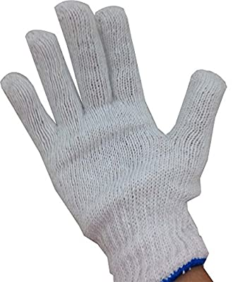 ToolUSA Men's Size Small Bleached White String Gloves With String At Cuff: GL-17445-Z12 : ( Pack of 12 Pairs )