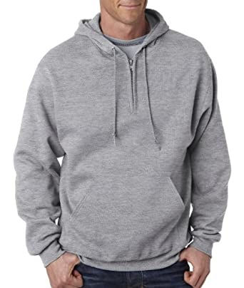 Jerzees Adult NuBlend Quarter-Zip Hooded Sweatshirt at Amazon ...