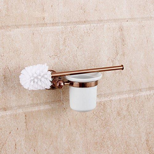 HYP-European-style copper natural marble rose gold toilet brush holder American jade bathroom pendant