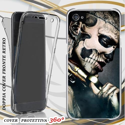 CUSTODIA COVER CASE KILLER TATTOO PER IPHONE 4 FRONT BACK