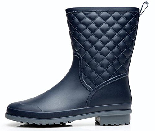 Alger slip ladies non Fashion blue rain boots 40 FwqgrPxAFO