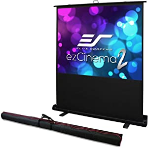 Elite Screens ezCinema 2, Portable Manual Floor Pull Up with Scissor Backed Projector Screen,52-inch,16:9, 4:3,1:1 Home Theater Office Classroom Projection Screen with Carrying Bag, F52XWV2